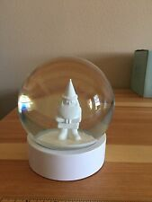 White Santa Snow Globe With White Base Bs-2.8