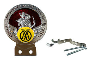 AA Red St Christopher Car Badge with Fixings