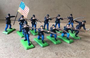 BRITAINS DEETAIL Old ( Fab 1971) western # sécession war  - Infanterie Nordiste