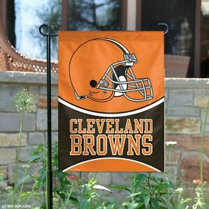 Cleveland Browns Garden Window Flag and Outdoor 2 Sided Yard Banner New