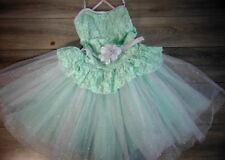 Weissman SHOW COSTUME Mint Solo Dance Ballet Recital Tutu Dress Girls Size LC 14