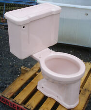 VINTAGE 1961 PETAL PINK TOILET BY GERBER w/ tall bowl - COMPLETE- WE DO FREIGHT!