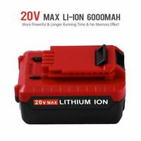 NEW 6.0Ah Extended Capacity  for Porter Cable 20V Lithium-ion Battery PCC685L