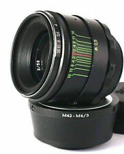 ⭐MINT⭐ vintage Perfect HELIOS 44-2 58mm F2 lens Micro 4/3 MTF 2 years warranty