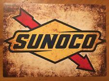 Tin Sign Vintage Sunoco Gas Station Motor Oil 2
