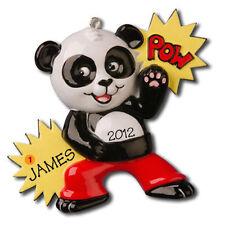 Personalized Panda Tae Kwon Do Kung Fu Christmas Ornament Baby Boy Gift
