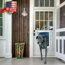 New listing Large Dog Door Pet Aluminum With Telescoping Frame Lockable Magnetic Flap Xxl