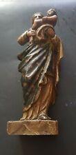 Vierge a l enfant en bois sculpté ( XVIII ème siècle )