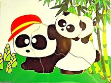 """PANDA 10 pc Wood Puzzle 11.5x8.5"""" Educational Toy Wooden Woodcraft Construction"""