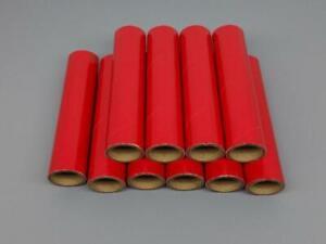 "10pc Fireworks Gloss Red Heavy Wall Cardboard Tubes, 1"" x 6"" x 1/8"" Pyro 37mm"