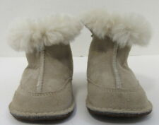 Baby Infant Toddler UGG Australia Sand Leather Shearling I Boo BOOTS SMALL