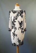 Karen Millen dress Lace Tunic Shift White Black UK 12