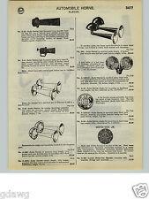 1932 PAPER AD Klaxon Car Automobile Horns Moto Vox Jr. Foot Control
