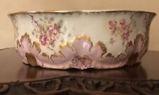 Antique LS & S LIMOGES France VERY Pink Strauss Porcelain Bowl FABULOUS NICE!!!!