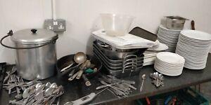 Job Lot Catering Porecelite Plates, Cuttlery, Pans, Restaurant Plates