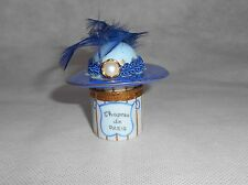 Limoges France Fiona Saunders Hat #8 Hand Painted Hinged Trinket Box