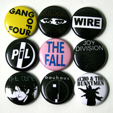 POST-PUNK Badges Buttons Pinbacks Pins x 9 - Size 1 Inch 25mm pil wire the cure