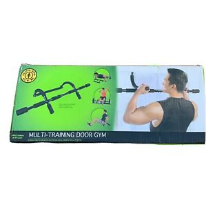 NEW Golds Gym 5/1 Door Gym Trainer Home Pull Up Bar MultiArm Workout Box Damaged