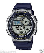 AE-1000W-2A Blue Casio Men's Watches Standard Digital 10-Year Battery Alarm New
