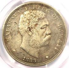 1883 Hawaii Kalakaua Dollar $1 - PCGS AU Details - Rare Certified Silver Coin!