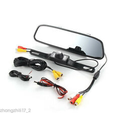 "4.3"" Car LCD Mirror Monitor LED Car Reversing Camera Rear View Backup Camera Kit"