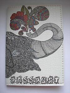 PASSPORT Holder, Cover, Case - ELEPHANT -  Travel Gift Idea