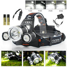 CE BORUiT 20000LM 3*XM-L LED USB Kopflampe Stirnlampe Headlamp 18650 Powerbank