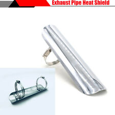 "9"" Motorcycle Exhaust Pipe Heat Shield Cover Guard with 2Pcs 1.8""-2.75"" Clamps"