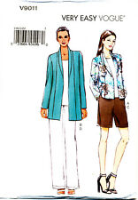 VOGUE SEWING PATTERN 9011 MISSES 16-26 EASY JACKET, SHORTS & PANTS IN PLUS SIZES