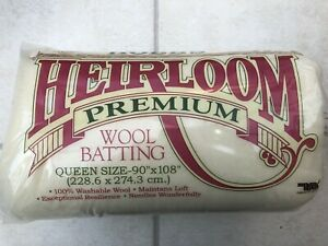 """Hobbs Wool Batting / Wadding for Patchwork Quilts - QUEEN size 90"""" x 108"""""""