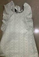 NEW RRP £35.00 River Island Mini Girls GreenLace Bow Back Prom Dress       (B75)
