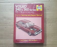 volvo 340 & 360 series Haynes Manual 1976 to 1991  Unused & Sealed