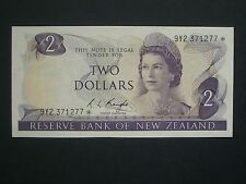 ***Superb** $2  Replacement Crisp  'AUNC'  Knight New Zealand  Banknote***