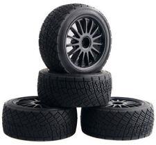 """New RC Car 4PCS Set 80mm 2.2"""" Rim Tires HPI WR8 Rally Tarmac Off-Road HSP 94177"""
