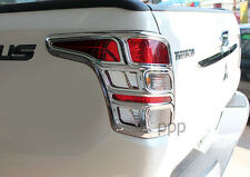CHROME TAIL LIGHT REAR LAMP COVER FOR MITSUBISHI L200 TRITON PICKUP 2015 2016 16