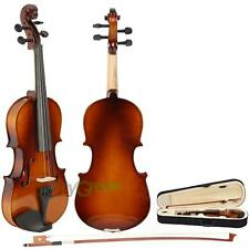 New 1/2 Size Natural Color Acoustic Violin with Case + Bow + Rosin for Beginner