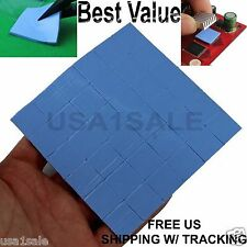 lot of 30 Thermal Conductive Pads 15x15x1 mm For Heat-sink Chip GPU/CPU PS 2 3
