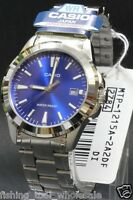 MTP-1215A-2A2 Blue Casio Men's Watch Stainless Steel Analog Water Resistant