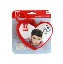 One Direction 'Zayn' Plush Heart Shaped Backpack / School Bag / Rucksack Clip