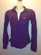 HOLLISTER by Abercrombie Salt Creek  Plaid Women's Shirts LTRD X SMALL