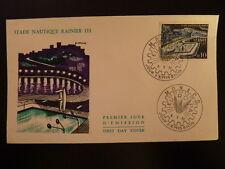 MONACO PREMIER JOUR FDC YVERT  539A    STADE NAUTIQUE RAINIER III   0,10F   1962