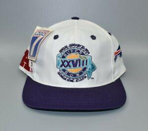 Vintage Rare Buffalo Bills NFL Super Bowl XXVIII Logo 7 Snapback Cap Hat - NWT
