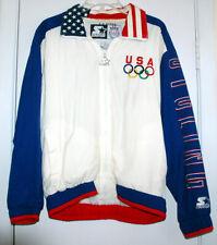 US OLYMPIC TEAM CYCLING JACKET STARTER USA FLAG VTG Rare SMALL S 90s RETRO HTF