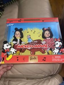Kelly & Tommy Disney Mickey & Minnie Mouse new doll 2002 Mattel Barbie sister