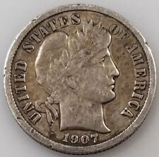 1907 Barber Dime! Add this coin to your collection!