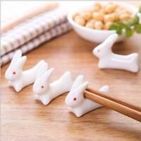 2Pcs Ceramic Rabbit Chopsticks Rack Rest Spoon Fork Holder Table Decoration hot
