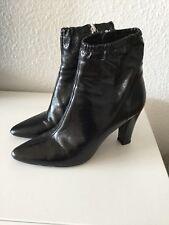 ZARA Stiefeletten, Stiefel, Ankle Boots, Schwarz, Leder, Blockabsatz,Gr.40