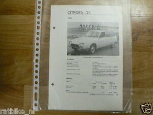 C14-CITROEN GS 1971 -TECHNICAL INFORMATION