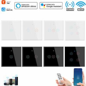 TUYA Smart WiFi Light Switch 1/2/3/4 Gang Touch Switch Smart Life UK HOT