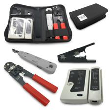 Netzwerk Werkzeug Set RJ45 Tasche Crimpzange Abisolierzange LSA Kabeltester 4in1